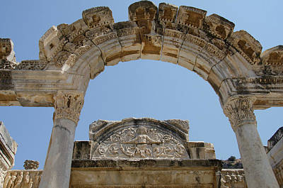 Turkey, Ephesus Temple Of Hadrian Art Print