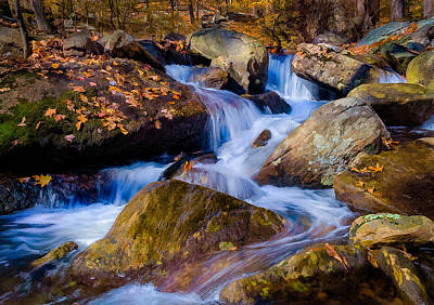Print featuring the photograph Turkey Hill Pond Stream by Steve Zimic