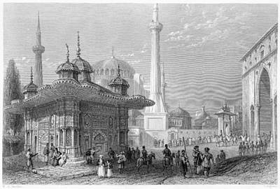 Streetscenes Painting - Turkey Istanbul, 1839 by Granger