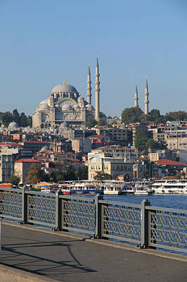 Galata Photograph - Turkey, Istanbul, Old Istanbul, Blue by Emily Wilson