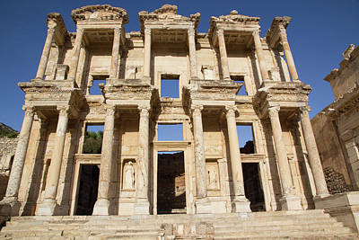 Library Photograph - Turkey, Izmir, Kusadasi, Ephesus by Emily Wilson