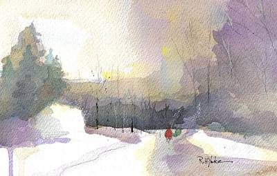 Turkey Painting - Turkey Neck Road In Winter by Robert Yonke