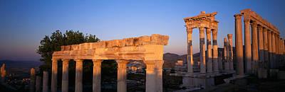 Turkey, Pergamum, Temple Ruins Art Print