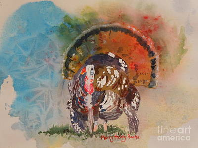 Turkey Time Art Print by Mary Haley-Rocks
