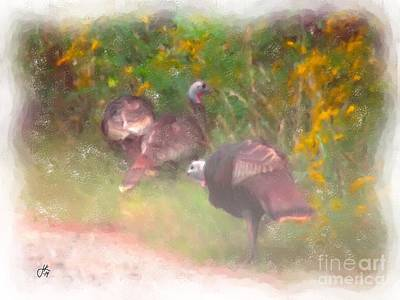 Painting - Turkeys In A Row 924 20140830 by Julie Knapp