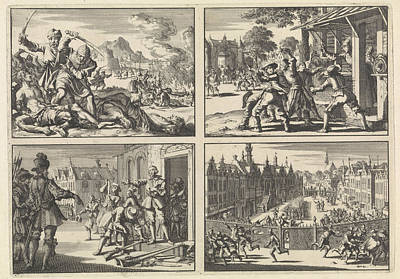 Smear Drawing - Turkish Atrocities In The Area Around Venice, 1614  Houses by Quint Lox
