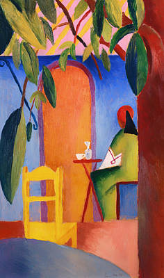 Turkish Painting - Turkish Cafe by Mountain Dreams