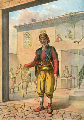 Turkish Cavass, An Armed And Uniformed Attendant Attached Art Print by Artokoloro