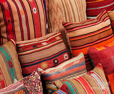 Photograph - Turkish Cushions 02 by Rick Piper Photography
