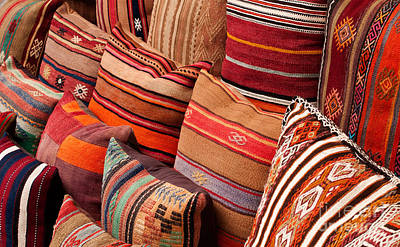 Photograph - Turkish Cushions 03 by Rick Piper Photography