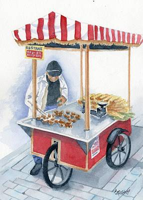 Istanbul Painting - Turkish Fast Food by Marsha Elliott