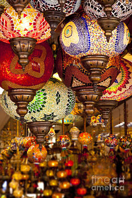Photograph - Turkish Lamps by Brian Jannsen