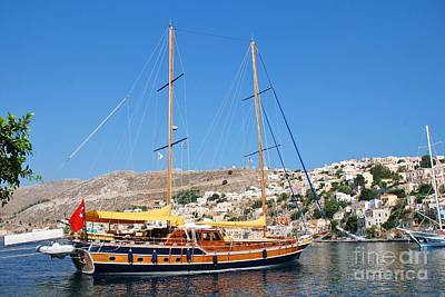 Symi Photograph - Turkish Sailing Boat Symi by David Fowler