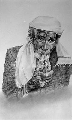 Drawing - Turkish Smoker 2 by Derrick Parsons