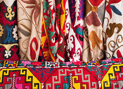 Photograph - Turkish Textiles 03 by Rick Piper Photography
