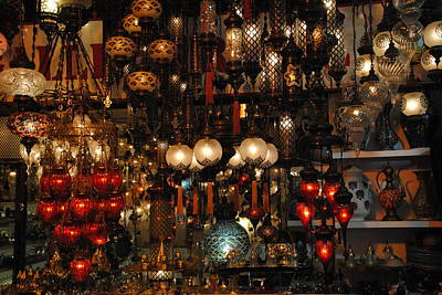Photograph - Turkish Treasures In Grand Bazaar by Jacqueline M Lewis