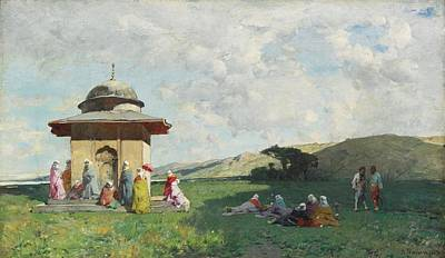 Dervishes Painting - Turkish Women At A Shrine by Celestial Images