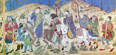 Persian Miniature Painting - Turkmen Bridal Party by Granger