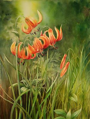 Turk's Cap Lilies Art Print by Johanna Axelrod