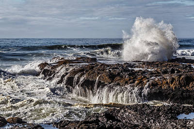 Photograph - Turmoil At Cooks Chasm by Wes and Dotty Weber