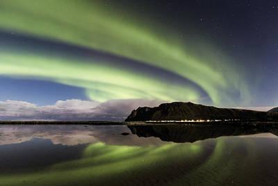 Aurora Borealis Photograph - Turn Left by Frank Olsen