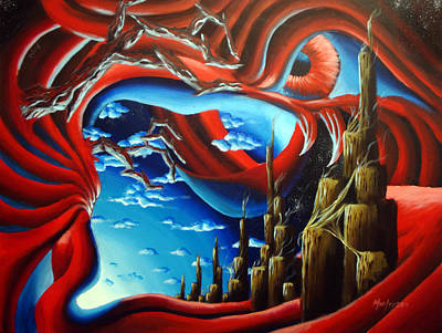 Wall Art - Painting - Turn Of The Dreamscape by Michael Ivy