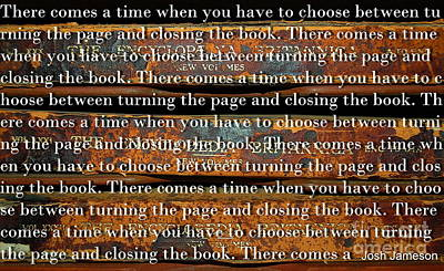 Photograph - Turn The Page Or Close The Book by Tamyra Crossley