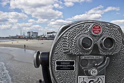 Binoculars Photograph - Turn To Clear Ferris Wheel by Tom Gari Gallery-Three-Photography