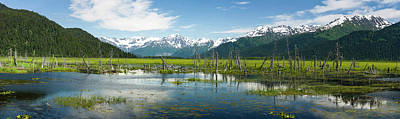 Turnagain Arm With Chugach Mountains Art Print by Panoramic Images