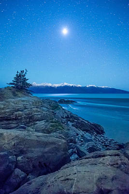 Photograph - Turnagain Moon by Tim Newton