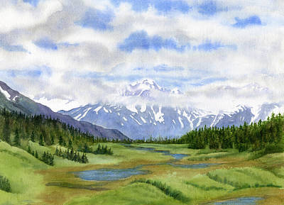 Alaska Mountains Painting - Turnagain Pass Mountain View by Sharon Freeman