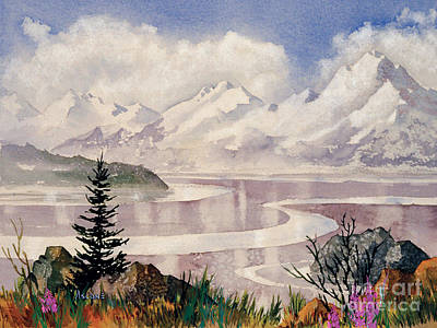 Painting - Turnagain Tidal Patterns by Teresa Ascone