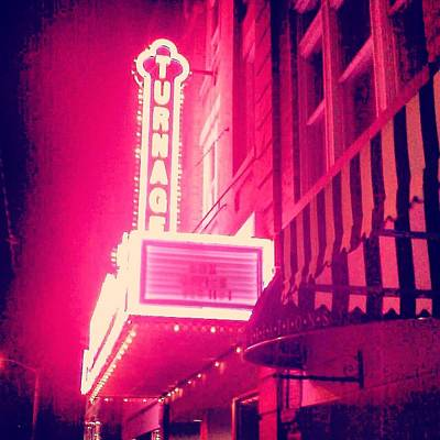 Photograph - Turnage Theater  by Joan Meyland