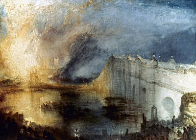 Early October Painting - Turner Burning Parliament by Granger