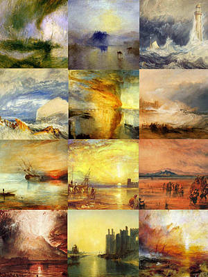 Turner Collage Art Print