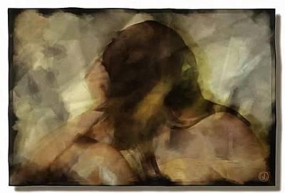 Girl Profile Digital Art - Turning Away by Gun Legler