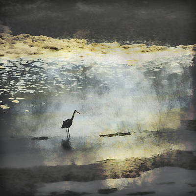Egret Landscape Photograph - Turning Of The Tide by Carol Leigh