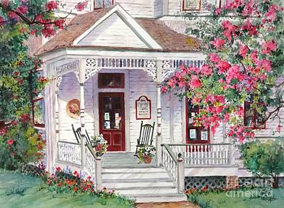 Natchez Painting - Turning Pages Bookstore by Sherri Crabtree