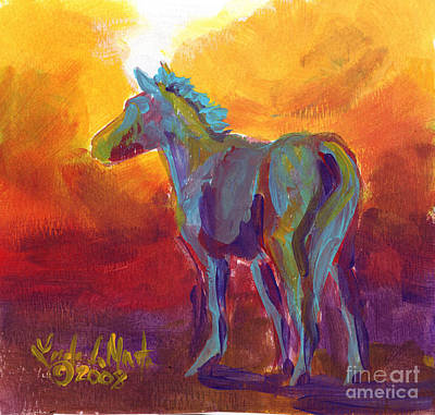 Painting - Turquios Foal by Linda L Martin