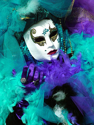 Photograph - Turquoise And Purple Boa 2 by Donna Corless