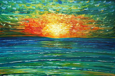 Painting - Turquoise At Sunset, Paphos, Cyprus by Pete Caswell