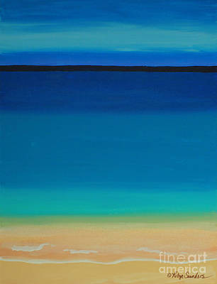 Painting - Turquoise Beach Scene Left Side by Robyn Saunders