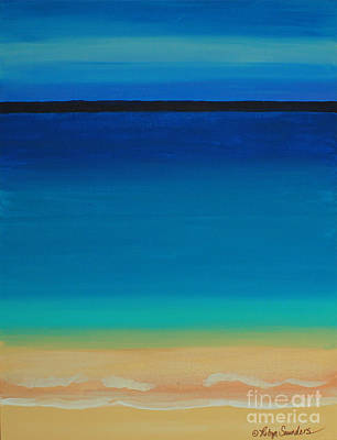 Painting - Turquoise Beach Scene Right Side by Robyn Saunders