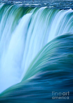 Turquoise Blue Waterfall Art Print by Peta Thames