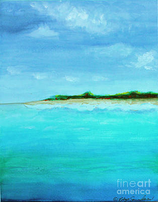 Painting - Land Ahead Turquoise Waters by Robyn Saunders