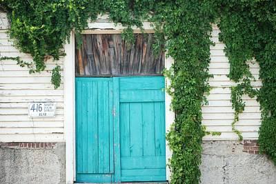 Turquoise Door Art Print by Pamela Schreckengost
