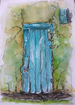 Turquoise Door Art Print by Stephanie Sodel