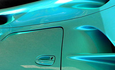 Photograph - Turquoise Exotic Art Lines by Jeff Lowe