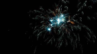 Photograph - Turquoise Firework Nebula by Weston Westmoreland