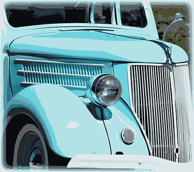 Photograph - Turquoise Ford Classic 1 by Sheri McLeroy